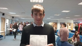 William Richards from Cornwall College got A*s and is off to study physics
