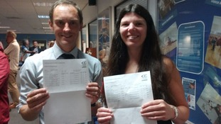 Cornwall College lecturers Noel and Roisin took A Level English alongside the students and they both got A* grades
