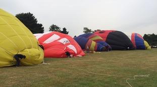Balloons on ground