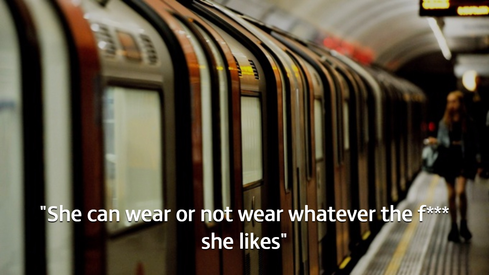 Young woman abused for being 'scantily-clad' is rescued on the Tube by a horrified pensioner
