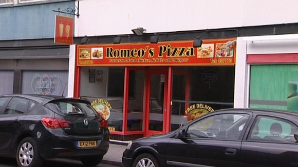 Romeo's Pizza shop on Clasketgate in Lincoln where the attack happened