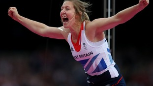 Great Britain's Holly Bleasdale competes in the Pole Vault