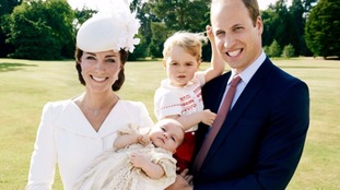 The Duke and Duchess of Cambridge with Prince George and Princess Charlotte