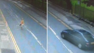 CCTV footage captures moment woman is 'forced into car' as she walks down street