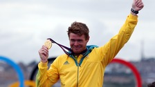 Australia's Olympic Laser sailing gold medal winner Tom Slingsby