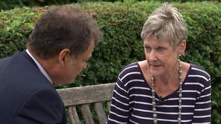 Janice Beaman talks to ITV News' Paul Davies