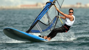 Bryony Shaw competing in Weymouth