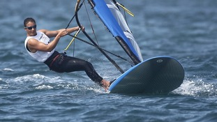Bryony Shaw competes in Weymouth