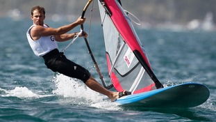 Nick Dempsey competes in Weymouth