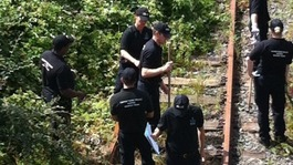 Police searching rail line