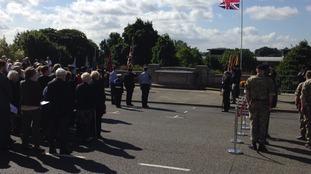 VJ commemoration in Chesterfield