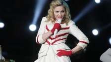 Madonna on her recent tour