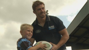 Watch: Halfpenny surprises chosen World Cup mascot