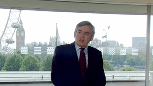 Gordon Brown's speech is his first intervention in the Labour leadership contest.