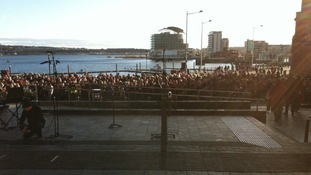 Crowds in the Bay; Rugby