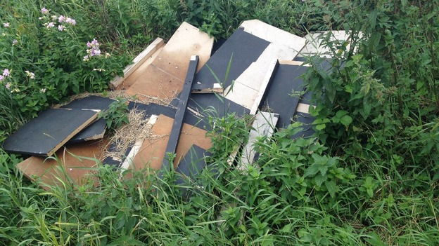 Rubbish dumped in kent