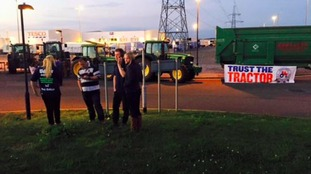 Farmers protest at Avonmouth