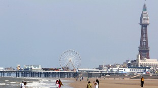 The body was found about two miles from Blackpool Tower.