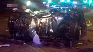 The driver was taken to the Queen Elizabeth Hospital Birmingham.