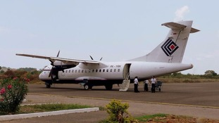 The plane crashed in Indonesia's Papua region with 54 people on board.