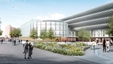 Artists impression of the new-look bus station.