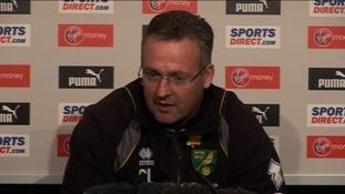 Norwich City Manager Paul Lambert