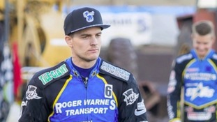 Speedway star Lewis Kerr has thanked fans for their support after the crash that left him in an induced coma
