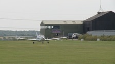 Sibson Airfield near Peterborough the scene of a weekend skydiving accident