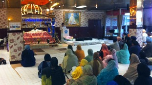 Members of Sikh community in Leicester remember those shot dead in US