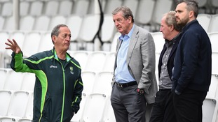 England boss Roy Hodgson watches Australian cricketers train ahead of final Ashes Test