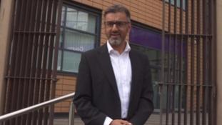 Muslim leader at court