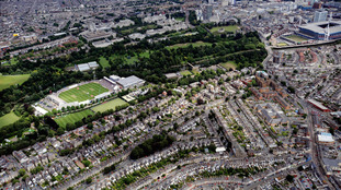 Aerial view of Cardiff