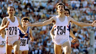 Great Britain's Seb Coe (r) celebrates winning gold