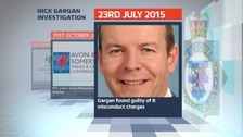 On 23rd July Nick Gargan was found guilty of 8 misconduct charges.
