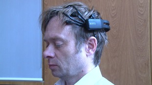 The headset being used in the research into how music can help dementia patients