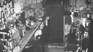 The CCTV footage shows glasses shattering when the pub is closed.