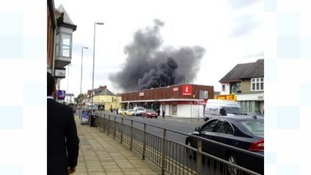 The fire broke out in the Kingsthorpe area of Northampton