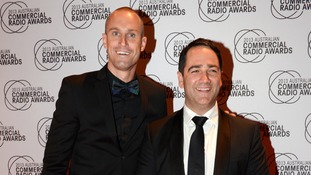 Fitzy (left) and Wippa have not commented since the incident.