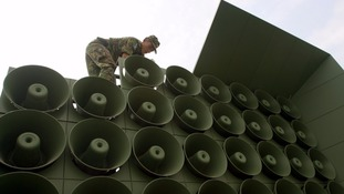 South Korea has previously dismantled its propaganda loudspeaker in 2004