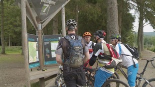 Cyclists at Glentress Forest