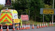 M54 slip road