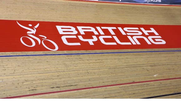 British Cycling branding displayed at the Manchester Velodrome