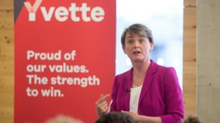 Labour leadership candidate Yvette Cooper.
