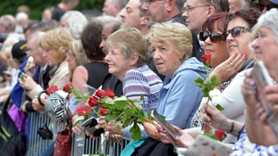 Crowd gathers for Cilla Black's funeral