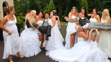 Ten brides and two grooms