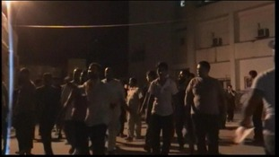 Locals pour out onto the streets of Al Arish