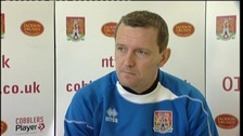 Northampton Town manager Aidy Boothroyd  ahead of their League Two game with Burton