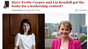 Spectator magazine under fire for article on Liz Kendall's and Yvette Cooper's looks