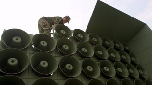 South Korea had previously dismantled its propaganda loudspeaker in 2004