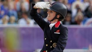 Britain's Charlotte Dujardin riding her horse Valegro